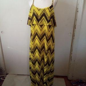 Cherry krave plus size yellow maxi dress size 2X